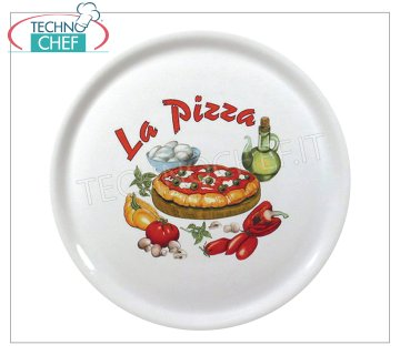 SATURNIA - PIZZA DISH 31 cm - NAPLES DECORATED Porcelain Collection - Restaurant Dishes DECORATED NAPLES PIZZA PLATE, Diameter 31 cm, SATURNIA brand - Buyable in a pack of 6 pieces
