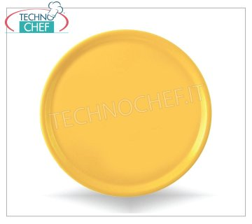 SATURNIA - PIZZA PLATE - NAPOLI YELLOW Porcelain Collection - Restaurant Dishes PIZZA DISH 31 cm, NAPLES Collection - YELLOW color, SATURNIA brand - Available for purchase in a pack of 6