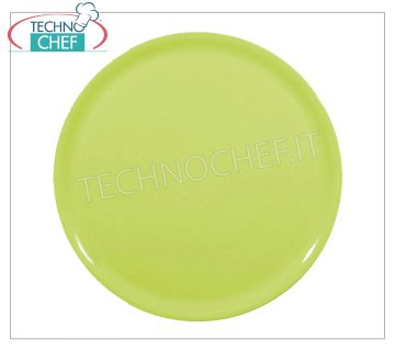 SATURNIA - PIZZA PLATE - GREEN NAPLES Porcelain Collection - Restaurant Dishes PIZZA DISH 31 cm, NAPLES Collection - GREEN color, SATURNIA brand - Purchasable in a pack of 6 pieces