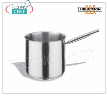 Technochef - Stainless steel bain marie casserole, 1 handle, Professional for Induction Stainless steel bain marie casserole, capacity 3 liters, also suitable for induction hobs, diam.cm.16 x 16h