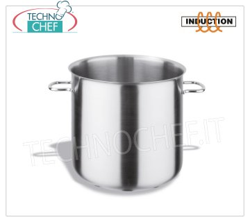 Technochef - Stainless Steel 2-Handle Bain Marie Casserole, Professional for Induction Stainless steel bain marie casserole with 2 handles, capacity 3 liters, also suitable for Induction hobs, diam.cm.16 x 16h