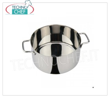 Ilsa - HIGH STAINLESS STEEL CASSEROLE 2 handles HIGH CASSEROLE 2 handles, Monoportions Collection, in STAINLESS STEEL, diameter mm.100, height mm.60.