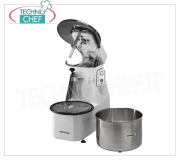 Fimar - Spiral mixer with liftable head and removable bowl of lt. 22, mod. 18CNS Spiral mixer with lifting head and removable bowl of lt. 22, dough capacity 18 Kg, V.400 / 3, Kw. 0,75, Weight 68 Kg, dimensions mm.670x390x620h