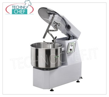 Fimar - Spiral mixer with liftable head and fixed bowl lt. 32, mod.25FN Spiral mixer with liftable head and fixed bowl of lt. 32, dough capacity 25 Kg, V.400 / 3, Kw. 1,5, Weight 107 Kg, dimensions mm.780x430x730h