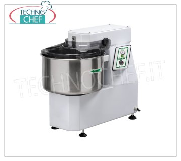 FIMAR - Technochef, Spiral dough mixer with 16 lt tank, Mod.12SN Head and bowl fixed spiral mixer of 16 liters, mixing capacity 12 kg, THREE-PHASE, V 400/3, kW 0.75, dim. mm 350x650x600h