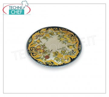 SATURNIA - PIZZA PLATE - TUSCANY DIGITAL PRINT Collection in Porcelain - Dishes for Restaurant PIZZA DISH 31 cm, Collection NAPLES - TUSCANY DIGITAL PRINT, Brand SATURNIA - Available for purchase in a pack of 6