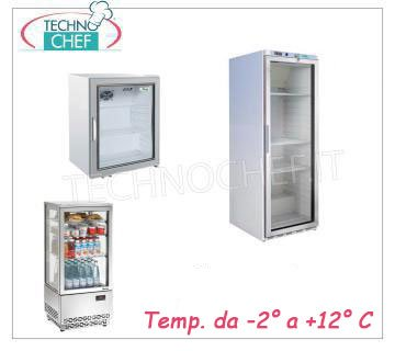 Glass door upright fridge