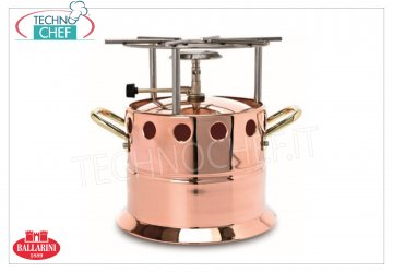 Ballarini Professionale - COPPER gas flambeau with stainless steel grill, 2 handles COPPER gas flambeau, SERIES 1500, with stainless steel grill and 2 side handles, diameter 260 mm, 290 mm high