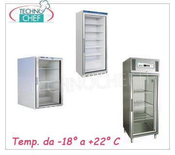 Glass door upright coolers/freezers