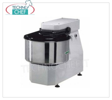 FIMAR - Technochef, Spiral mixer with bowl of lt. 22, Mod.20LN Spiral mixer, brand FIMAR, with 22 liter head and fixed bowl, dough capacity 16 kg, LIGHT LN line, suitable for soft dough, THREE PHASE, V. 400/3, 0.55 kw, 0.55 kw, weight 45 kg, dim . 380x600x560h mm