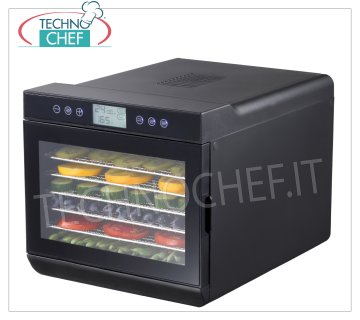Technochef - VEGETABLE DRYER with 7 STAINLESS STEEL TRAYS, Mod. 229064 DRYER for VEGETABLES with 7 STAINLESS STEEL TRAYS (shelves) mm 375x300, digital display, temperature adjustable from 35 ° to 70 ° C, V.230 / 1, Kw.0,5, dim.mm.345x450x315h