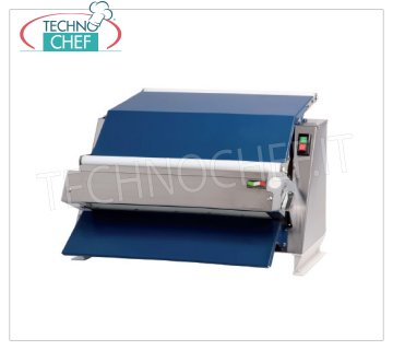 TECHNOCHEF - Professional Pastry Sheeter with Rollers 60 cm, Mod.2300 / MC60 Inox Sheeter with 1 pair of 60 cm long rollers, suitable for sugar pastes, almond paste and plastic chocolate, V.230 / 1, Kw.0.37, Weight 41 Kg, dim.mm.720x560x440h