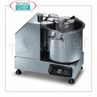SIRMAN - Table Cutter with 5.3 liter tank, Professional in 3 Versions STAINLESS STEEL TABLE CUTTER, tank capacity 5,3 lt, speed 2,800 rpm, V.230 / 1, Kw.0,35, Weight 11 Kg, dim.mm.365x305x320h
