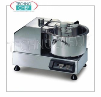 SIRMAN - Cutter with 3.3 liter tank, in 3 versions STAINLESS STEEL TABLE CUTTER, 3.3 lt tank capacity, V.230 / 1, Kw.0.35, Weight 11 Kg, dim.mm.365x305x255h