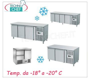 Gastronorm coolers/freezers tables