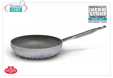 Ballarini Professionale - HIGH COUNTERSUNK COUNTERSUNK in NON-STICK Aluminum, HIGH COUNTERSUNK PAN `` TO SKIP '' 1 handle, with professional NON-STICK KERA STONE-PROFI GRANITE coating of HIGH QUALITY, 2800 SERIES, in ALUMINUM alloy, diameter mm.240, height mm.70