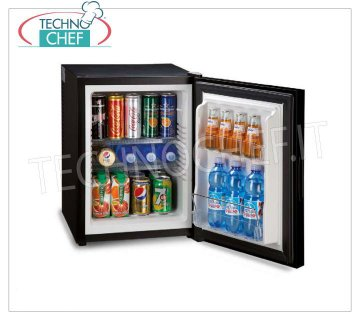 Technochef - Frigor minibar for hotel room, class A +, capacity 40 lt, Frigor minibar for hotel room, class A +, capacity 40 lt, temperature + 8 ° / + 14 ° C, V.230 / 1, Kw.0,065, Weight 13.5 Kg, dim.mm.545x405x443h