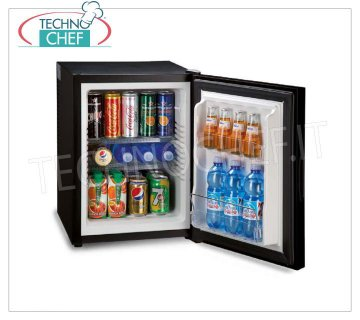 Technochef - Frigor Minibar with MIRROR HOLDER for hotel room, class A +, capacity 40 lt, Frigor Minibar with MIRROR HOLDER for hotel room, class A +, capacity 40 lt, temperature + 8 ° / + 14 ° C, V.230 / 1, Kw.0,065, Weight 13.5 Kg, dim.mm.545x405x443h