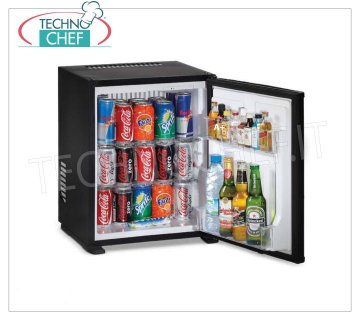Technochef - Frigor Minibar for hotel room, 30 lt capacity, Class A +, Energy Saving, Frigor Minibar for hotel rooms, class A +, capacity 30 lt, temperature + 8 ° / + 14 ° C, V.230 / 1, Kw.0.06, Weight 11 Kg, dim.mm.512x419x397h