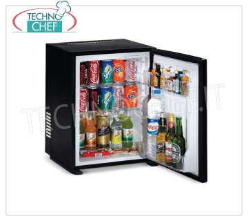 Technochef - Frigor Minibar for hotel room, class A +, capacity 40 lt, Frigor Minibar for hotel room, class A +, capacity 40 lt, temperature + 8 ° / + 14 ° C, V.230 / 1, Kw.0,06, Weight 13 Kg, dim.mm.566x441x432h