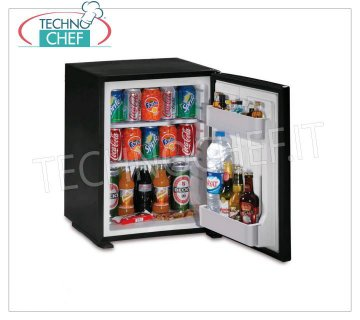 Technochef - Frigor Minibar for hotel room, capacity 40 lt, Frigor minibar for hotel room, capacity 40 lt, temperature + 8 ° / + 14 ° C, V.230 / 1, Kw.0.06-0.065, Weight 15, dim.mm.566x441x457h