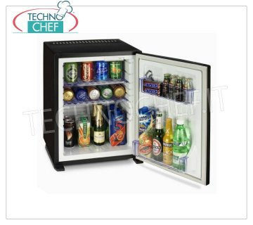 Technochef - Frigor Minibar for hotel room, BUILT-IN version, lt.30, Frigor Minibar for hotel room, built-in version, capacity 30 lt, temperature + 8 ° / + 14 ° C, V.230 / 1, Kw.0.06-0.075, Weight 13 Kg, dim.mm.512x419x423h