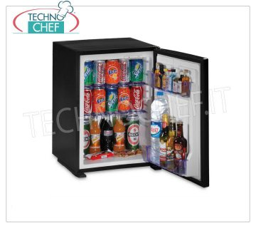 Technochef - Frigor Minibar for hotel room, built-in or free-standing version, lt. 40, Frigor Minibar for hotel room, in built-in version, capacity 40 lt, temperature + 8 ° / + 14 ° C, V.230 / 1, Kw.0.06-0.075, Weight 14.5 Kg, dim.mm.566x441x457h