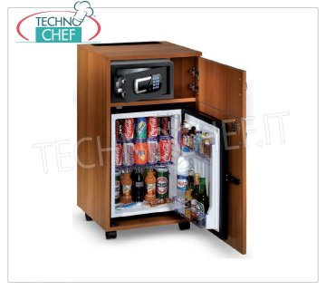 Technochef - Frigor Minibar for hotel room with cabinet and storage compartment, lt. 40, Frigor minibar for hotel room inserted in cabinet with storage compartment, capacity 40 lt, temperature + 8 ° / + 14 ° C, V.230 / 1, Kw.0.06-0.075, Weight 40 Kg, dim.mm.947x500x495h