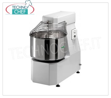 FIMAR - Technochef, Spiral mixer with lt. 32 bowl, Mod.30LN Spiral mixer FIMAR head and fixed bowl of 32 liters, dough capacity 25 kg, LIGHT LN line, suitable for tender doughs, THREE PHASE, V. 400/3, kw 0.75, weight 69 kg, dim. mm 420x680x660h