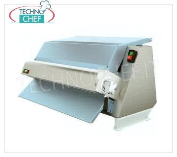 TECHNOCHEF - Professional Sheeter with 60 cm Rollers, Double Opening, Mod.3300 / MPZ60 Inox sheeter with 1 pair of 60 cm long rollers, double inlet for sugar pastries, shortcrust pastry, croissants and plastic chocolate, V.230 / 1, Kw.0.37, Weight 35 Kg, dim.mm.720x450x410h