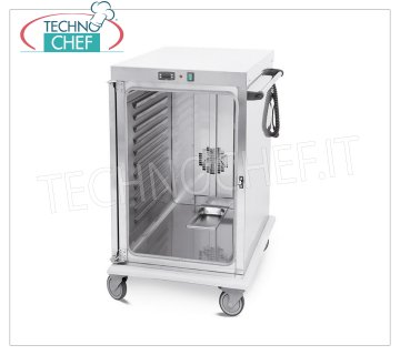Technochef - VENTILATED HOT TROLLEY for temperature maintenance 10 TRAYS GN 1/1, Mod. 3411-10GS HOT TROLLEY Ventilated for Temperature Maintenance, capacity 10 GN 1/1 TRAYS (mm.325x530), temp. + 65 ° / + 90 ° - SUPPORTS with PRINTED GUIDES step 5,5 mm, HUMIDIFIER, V.230 / 1, Kw .1,6, dim.mm.480x800x1100h