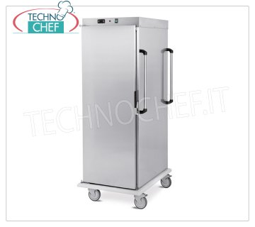 Technochef - VENTILATED HOT TROLLEY Temperature maintenance for 18 GN 1/1 TRAYS, Mod. 3411-18C HOT TROLLEY for temperature maintenance, capacity 18 GN 1/1 TRAYS (mm.325x530), temp. + 65 ° / + 90 °, SUPPORTS with '' C '' GUIDES, 6.6 mm pitch, HUMIDIFIER, V.230 / 1, Kw.1,6, dim.mm.480x800x1660h