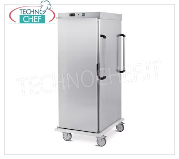Technochef - VENTILATED HOT TROLLEY for temperature maintenance 18 GN 2/1 TRAYS, Mod. 3421-18C HOT TROLLEY Ventilated for Temperature Maintenance, capacity 18 GN 2/1 TRAYS (mm 650x530), temp. + 65 ° / + 90 ° - SUPPORTS with '' C '' GUIDES, 6.6 mm pitch, HUMIDIFIER, V.230 / 1, Kw.1,6, dim.mm.720x920x1660h