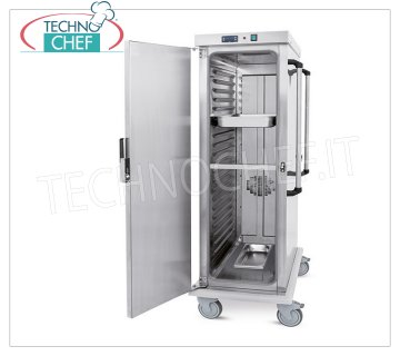Technochef - VENTILATED HOT TROLLEY for temperature maintenance 20 TRAYS GN 2/1, Mod. 3421-20GS VENTILATED HOT TROLLEY for temperature maintenance, capacity 20 GN 2/1 TRAYS (650x530 mm), temperature + 65 ° / + 90 ° - SUPPORTS with PRINTED GUIDES, pitch 5.5 mm, HUMIDIFIER, V.230 / 1, Kw. 1.6, dim.mm.720x920x1660h