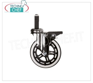 Technochef - SET 4 ELASTIC WHEELS, 2 with BRAKE Set of 4 elastic wheels, 2 of which with brake, for uneven floors or outdoors