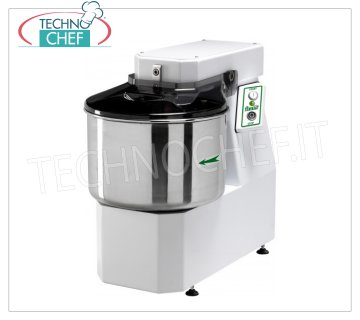 FIMAR - Technochef, Spiral dough mixer with a 42 lt tank, Mod.38SN Head and bowl fixed spiral mixer of 42 liters, mixing capacity 38 kg, THREE-PHASE, V 400/3, kW 1,5, dim. mm 480x800x710h