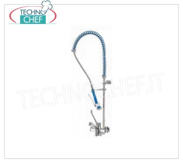 Two-hole wall tap with suspended shower WALL BIFORO single lever mixer tap with clinical lever and SUSPENDED SHOWER