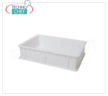 Stackable pizza container 400x300 H100, white color Stackable pizza box, in food-grade polyethylene, white color, dim.mm.400x300x100h