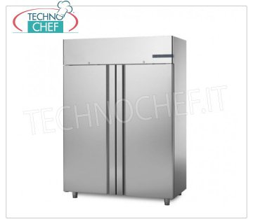 2 Door Professional Freezer Cabinet, lt. 1200, Ventilated, Temp. -18 ° / -22 ° C Refrigerator / Freezer cabinet 2 doors, with stainless steel structure, capacity 1200 lt, temperature -18 / -22 ° C, ventilated refrigeration, V.230 / 1, Kw.1,708, Weight 190 Kg, dim.mm.1480x715x2085h