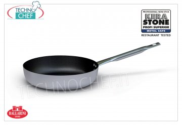 Ballarini Professionale - STRAIGHT FRYING PAN in NON-STICK Aluminum, 4500 Series STRAIGHT FRYING FRYING PAN 1 handle, PROFESSIONAL HIGH QUALITY NON-STICK, 4500 SERIES, in ALUMINUM alloy, diameter mm.180, height mm.45