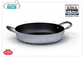 Ballarini Professionale - PAN 2 non-stick aluminum handles 4 mm thick, 4500 Series PAN 2 handles, HIGH QUALITY PROFESSIONAL NON-STICK, SERIES 4500, in ALUMINUM alloy, diameter mm.240, high mm.60