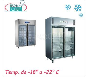 Double glass door upright coolers/freezers