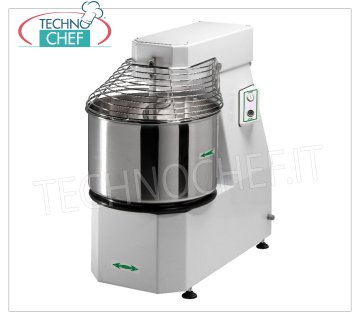 Fimar - Spiral mixer with liftable head and removable bowl of lt. 62, mod.50CNS Spiral mixer with lifting head and removable bowl of lt. 62, dough capacity 50 Kg, V.400 / 3, Kw.2,2, Weight 209 Kg, dimensions mm.920x530x940h