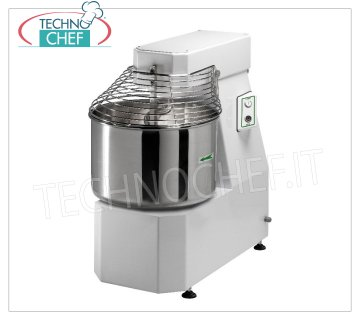 Fimar - Spiral mixer with liftable head and fixed bowl lt. 62, mod.50FN Spiral mixer with liftable head and fixed bowl of lt. 62, dough capacity 50 Kg, V.400 / 3, Kw.2,2, Weight 209 Kg, dimensions mm.920x530x940h
