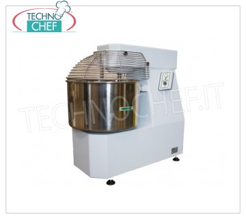 FIMAR - Technochef, Spiral dough mixer with lt.62 tank for 50 Kg of dough, FIMAR brand FIMAR Spiral dough mixer with fixed head and bowl of 62 liters, mixing capacity 50 kg, THREE-PHASE, V 400/3 kW 2,2, dim. mm 530x920x920h
