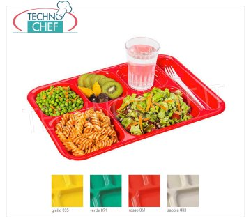 Tray with compartments in polypropylene Tray with compartments in polypropylene, available in different colors, dim.mm.370x255 - UNIT PRICE - Article available in PACKAGES of 24 pieces