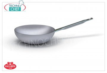 Ballarini - WOK FRYING PAN, PROFESSIONAL, 7000 series, 3 mm thick MANTECARE wok pan, 1 handle, 7000 SERIES, in ALUMINUM, diameter 240 mm, high 75 mm