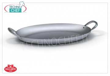 Ballarini - OVAL PANS FISH 2 handles, PROFESSIONAL, Series 7000, thickness 3 mm Oval fish pan 2 handles, SERIES 7000, in ALUMINUM, diameter mm 400, high mm 43