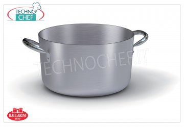 Ballarini - MEDIUM CASSEROLE 2 handles, PROFESSIONAL, Series 7000, thickness 3 mm Medium casserole with 2 handles, SERIES 7000, in ALUMINUM, diameter 180 mm, high 100 mm.