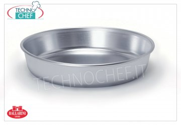 Ballarini Professionale - HIGH CONICAL BAKING PAN in 3 mm thick aluminum with EDGE, Series 7000 High conical cake pan with rim, 7000 SERIES, in ALUMINUM, diameter 220 mm, 55 mm high